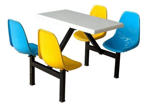 拼色玻璃钢餐桌