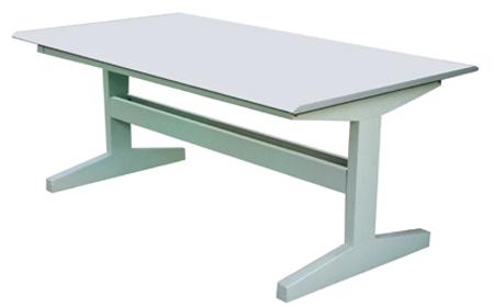 钢制工字阅览桌